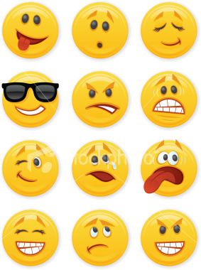 Different emoticons.