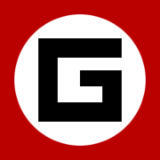 A stylized G - the symbol of the Grammar Nazi