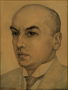 Drawing of Gerard Nolst Trenité